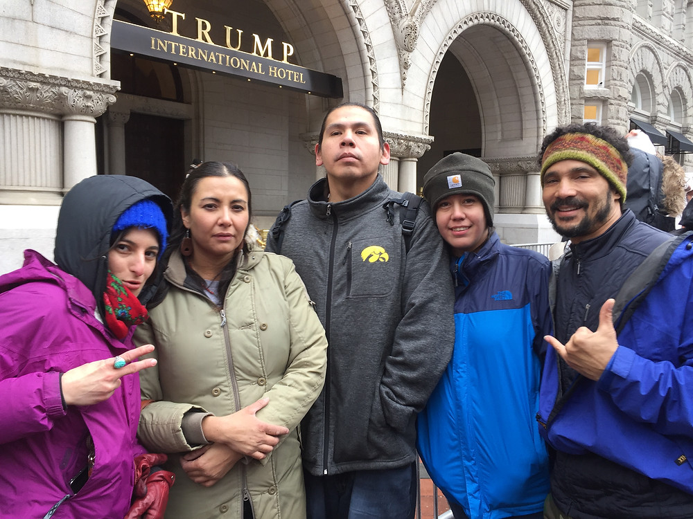 At the Native March in DC, 2017 in front of Trump Tower