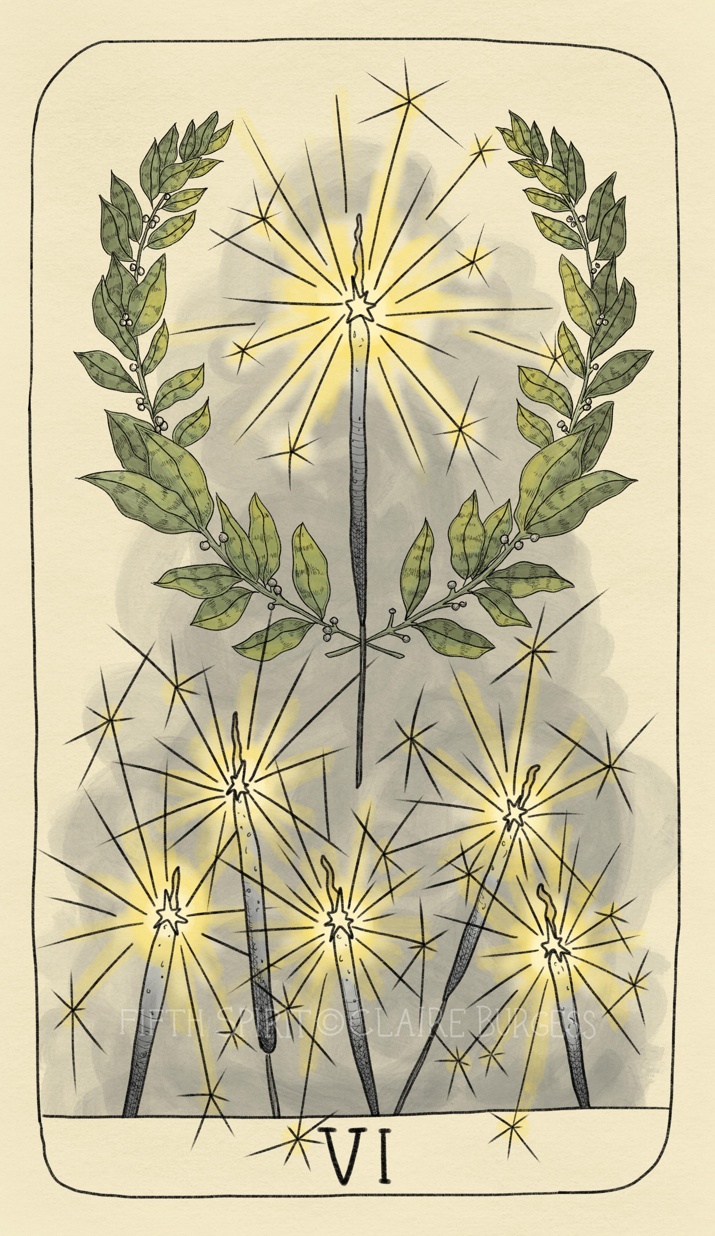 6 of Wands Fifth Spirit Tarot