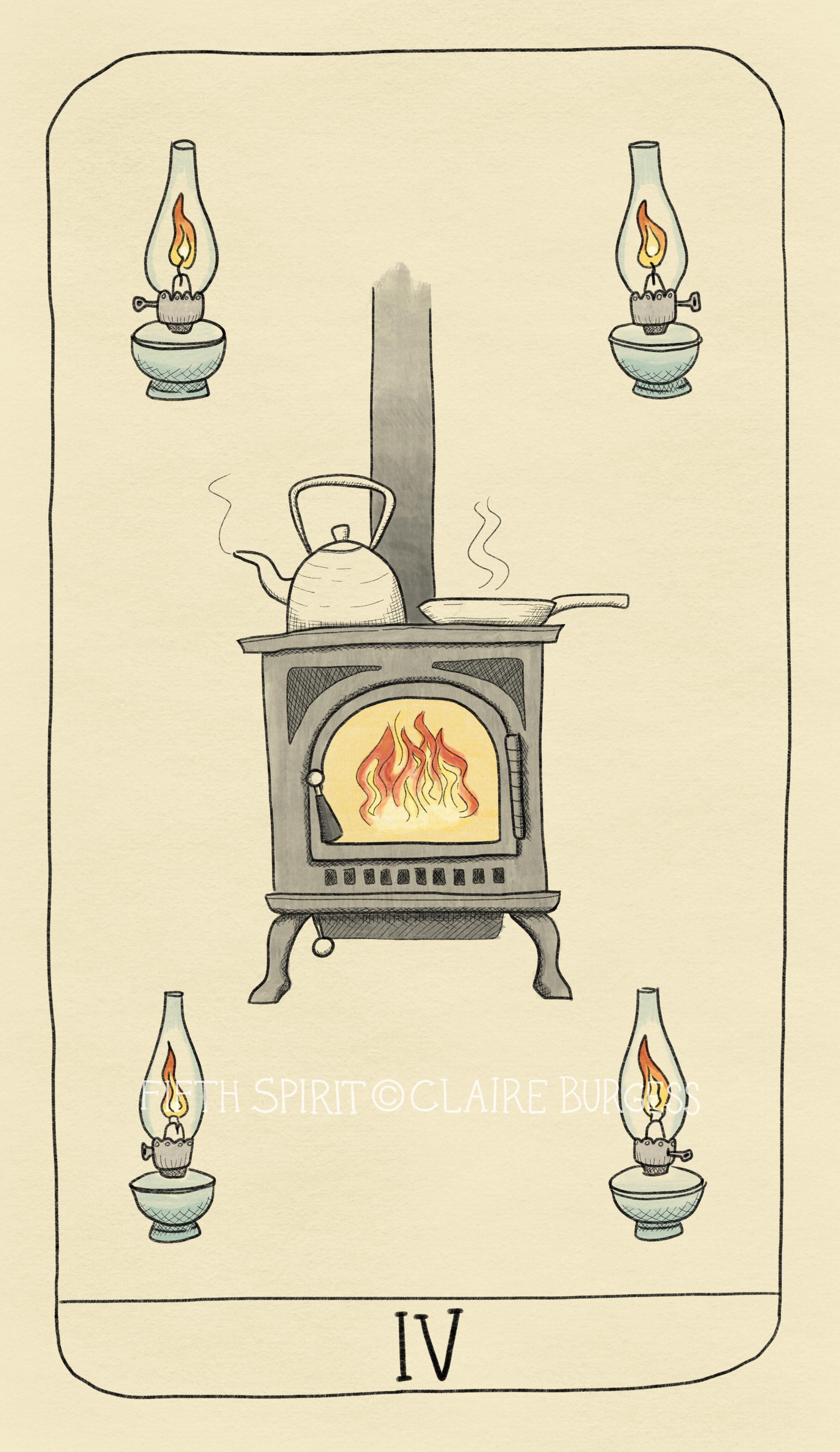 4 of Wands Fifth Spirit Tarot