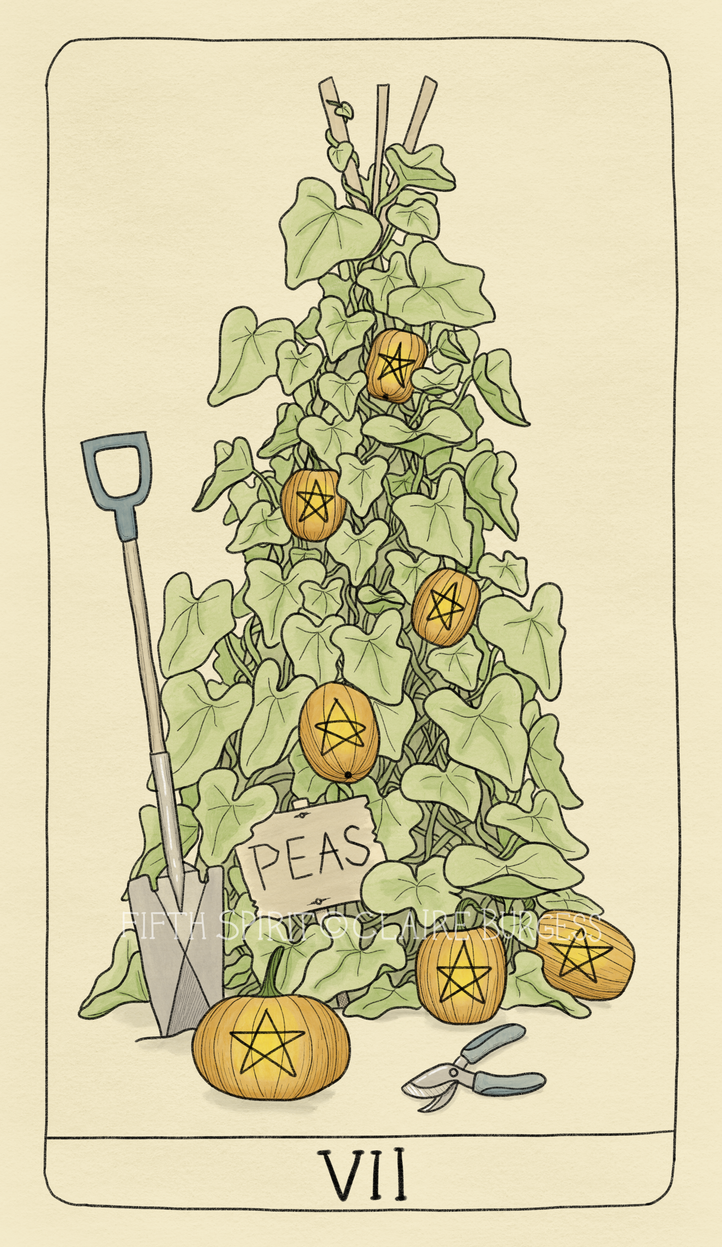 7 of Pentacles Fifth Spirit Tarot