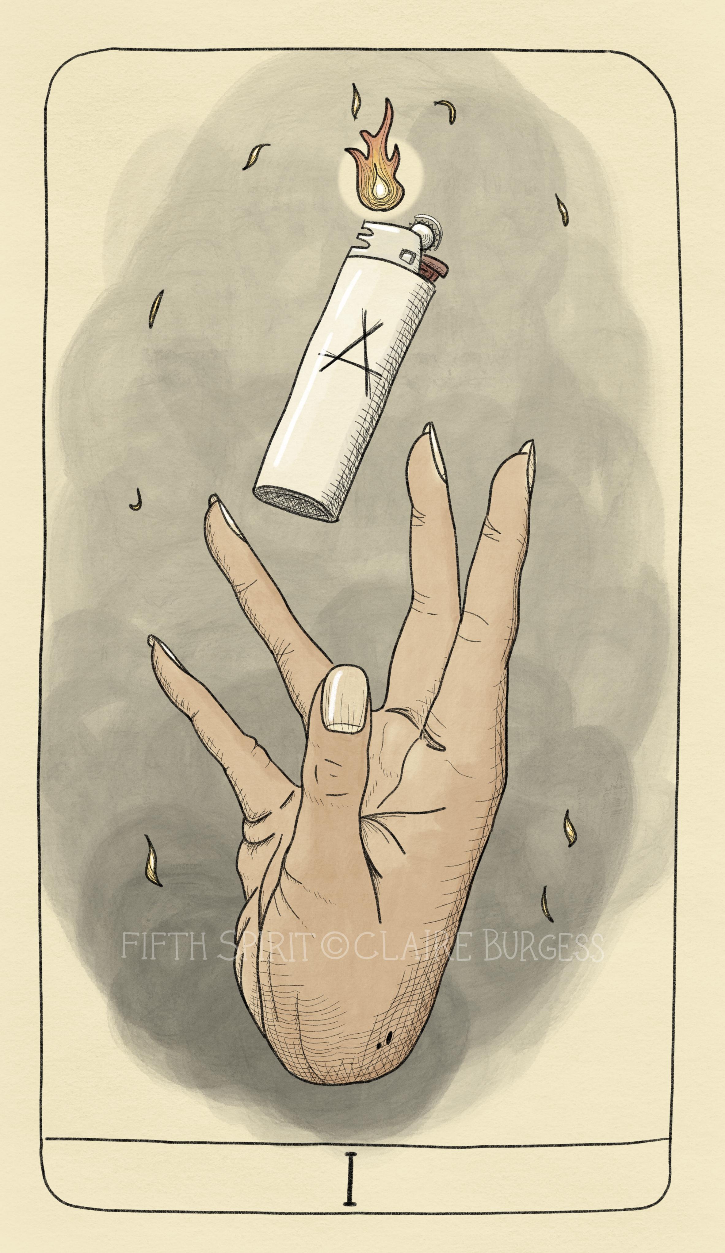 Ace of Wands Fifth Spirit Tarot