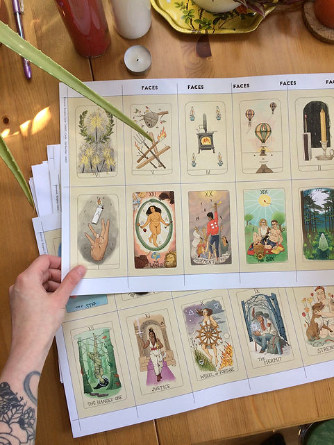 Fifth Spirit Tarot proofs