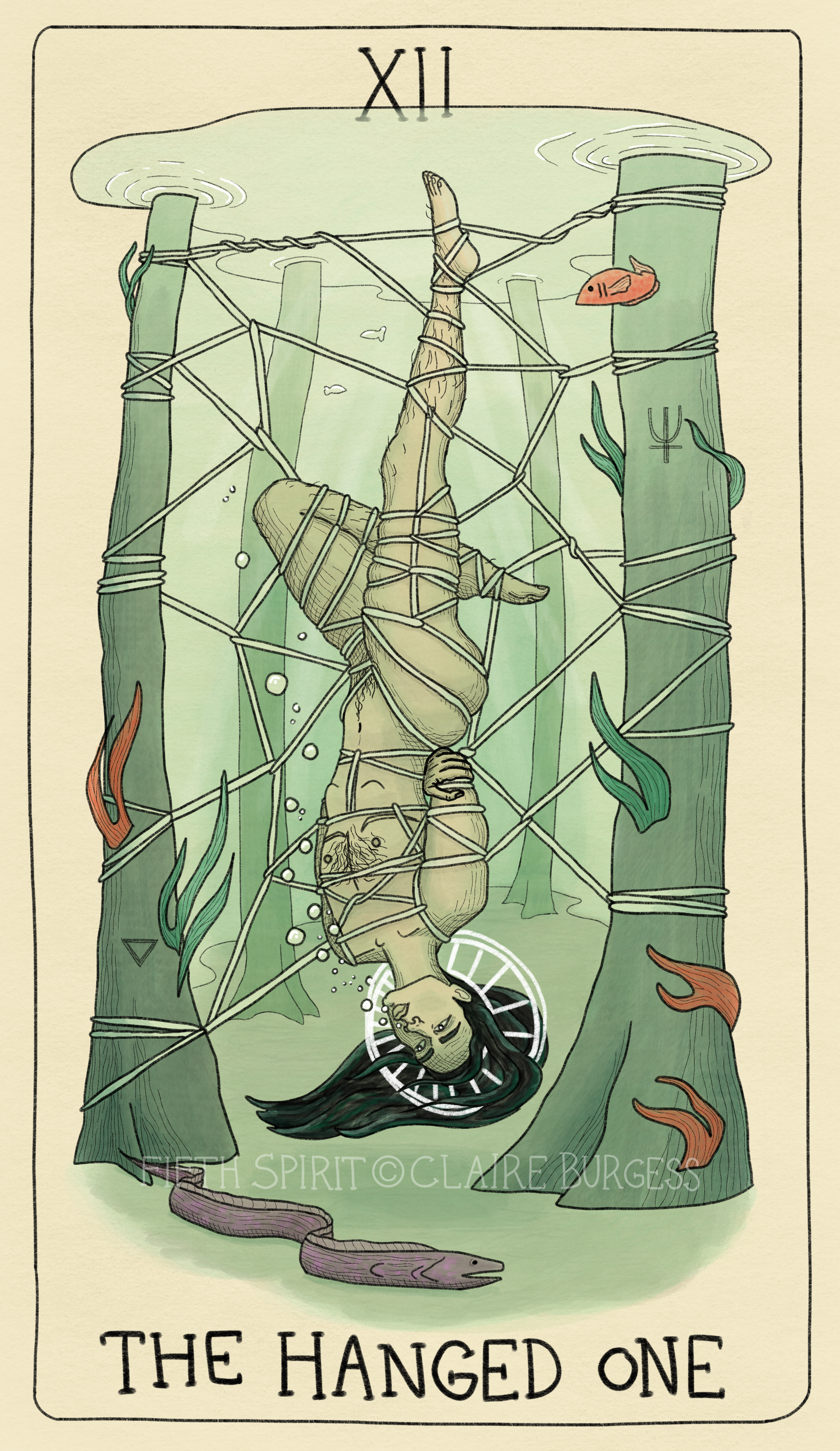 12 The Hanged One Fifth Spirit Tarot