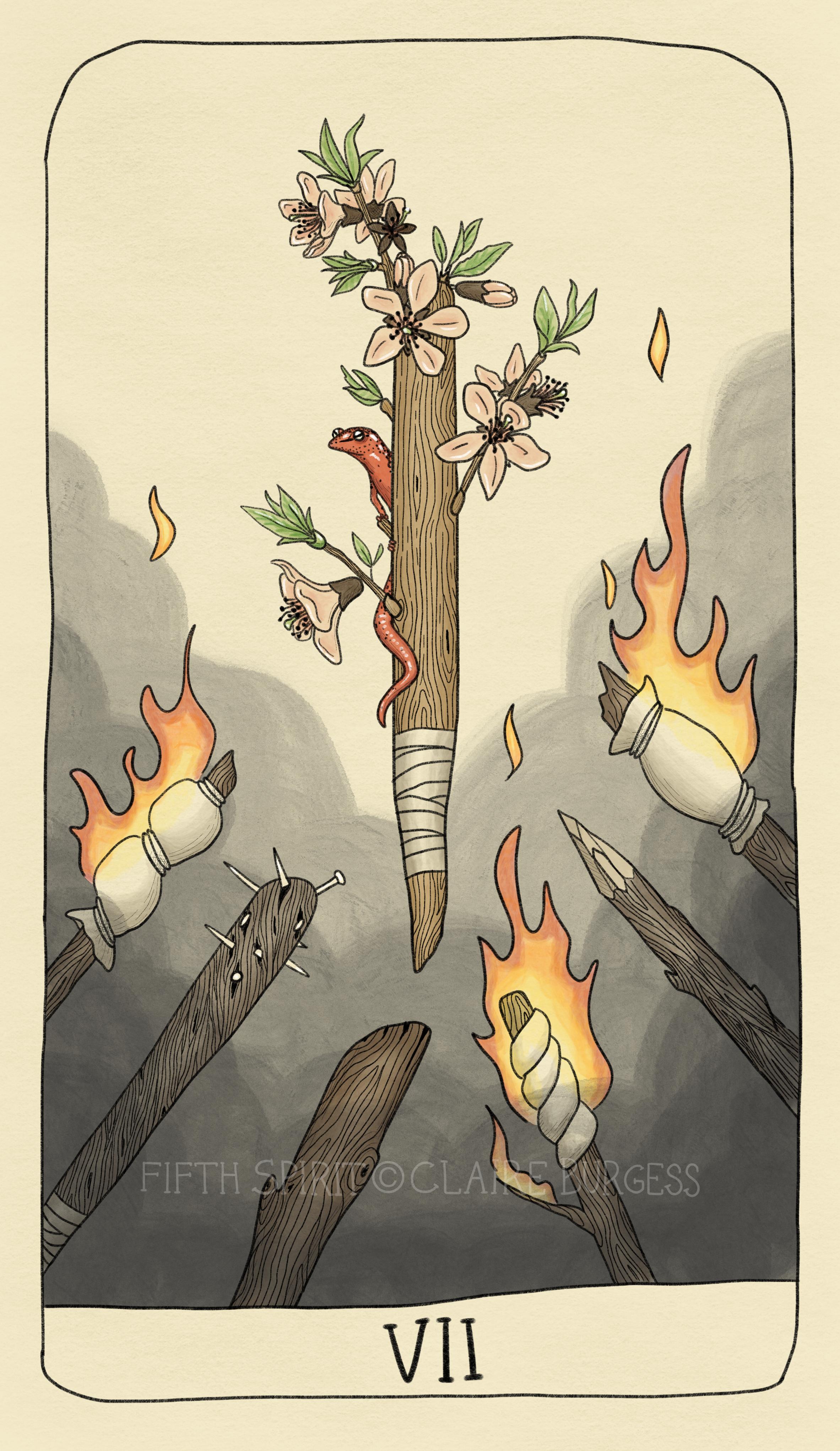 7 of Wands Fifth Spirit Tarot