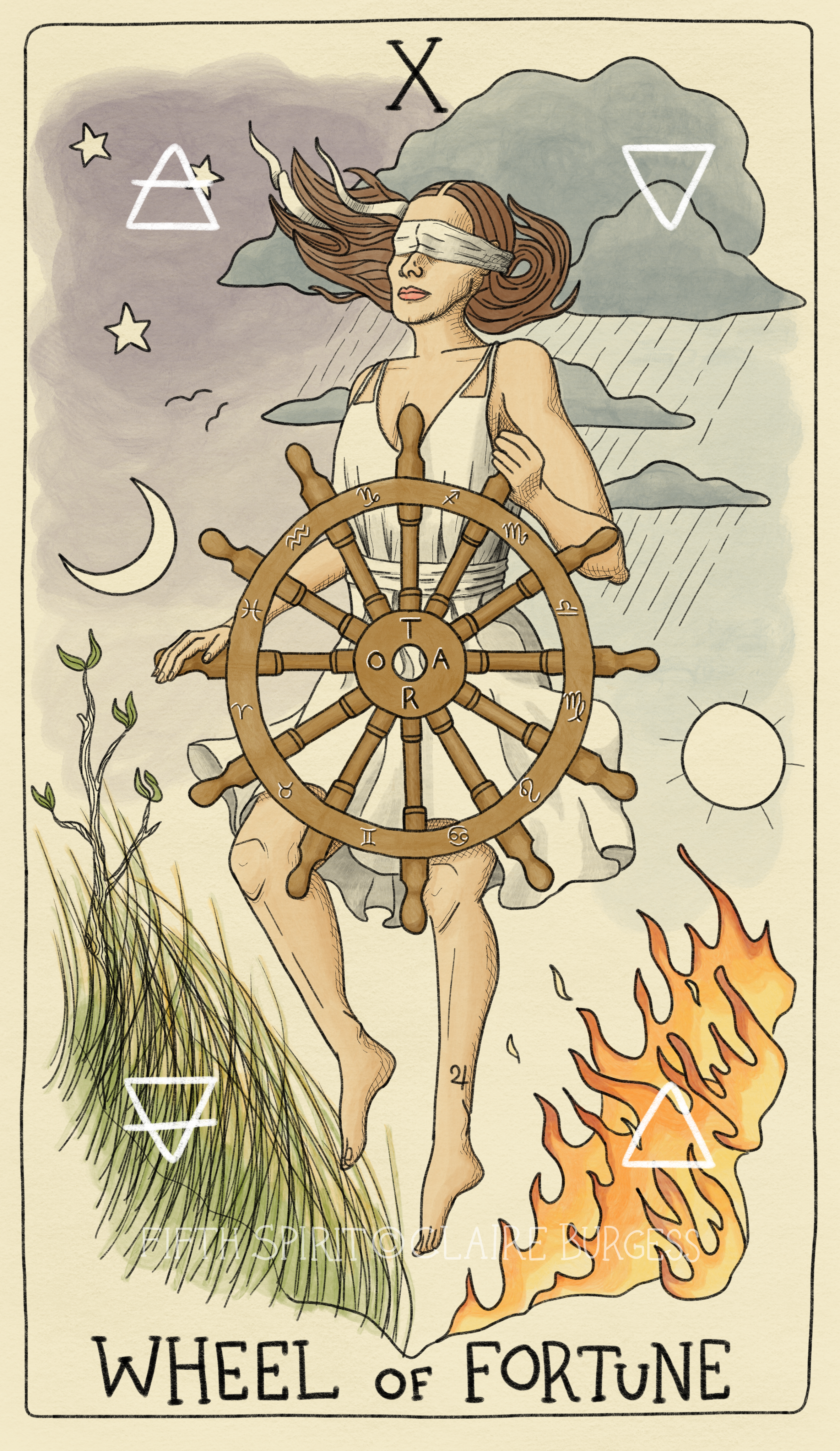 10 The Wheel of Fortune Fifth Spirit Tar