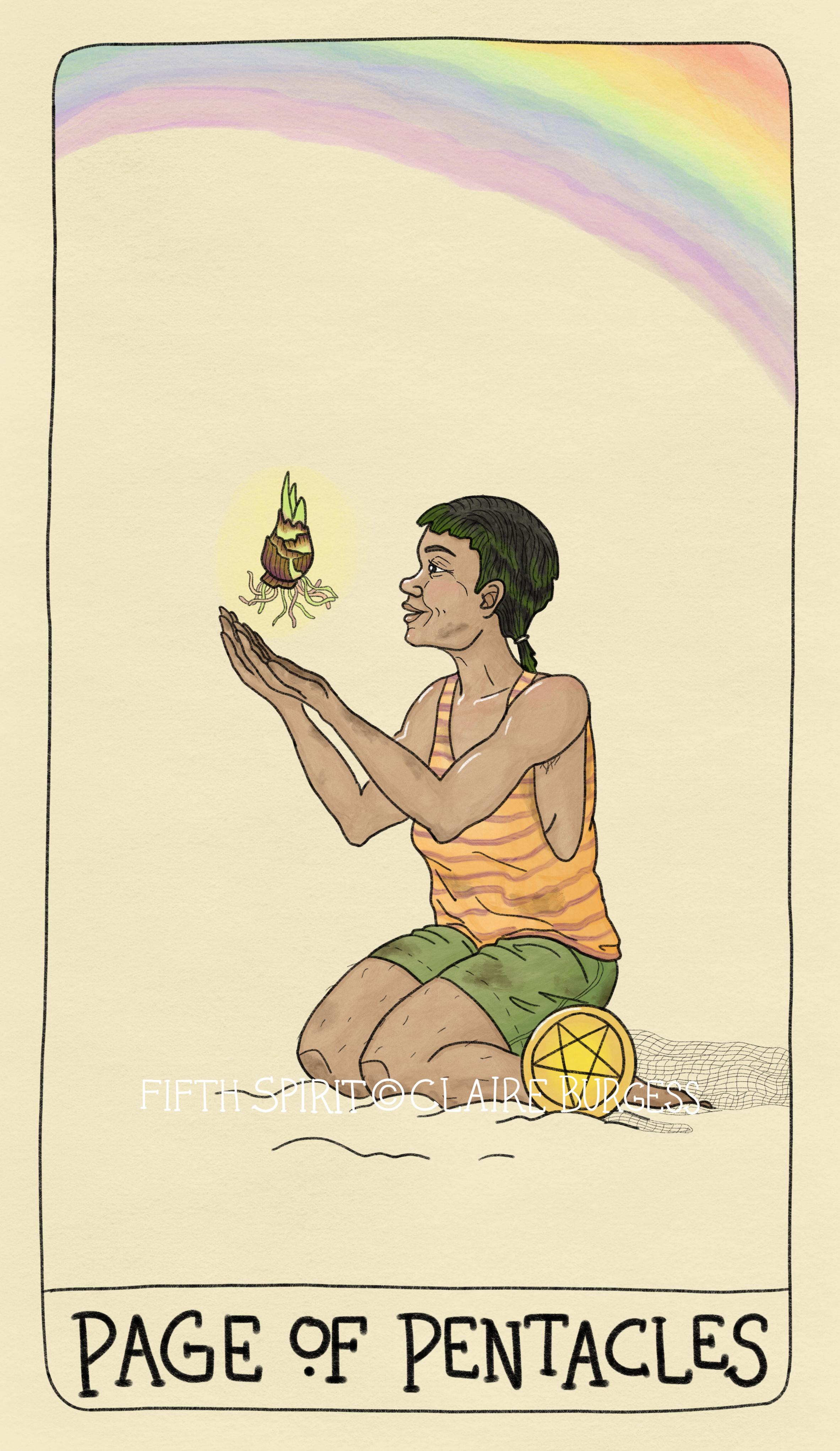 Page of Pentacles Fifth Spirit Tarot