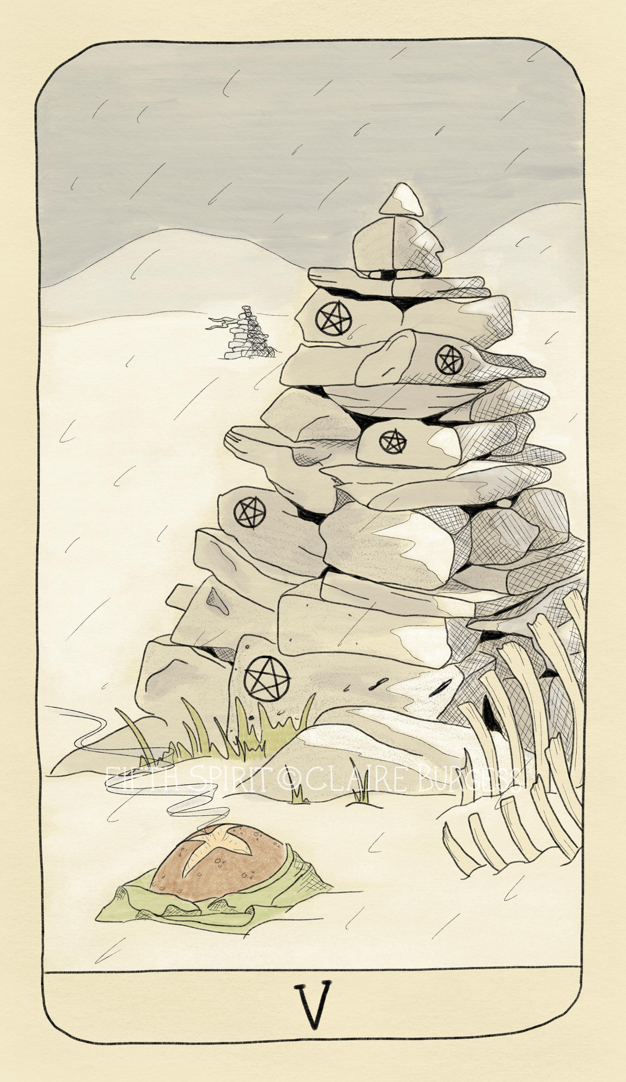 5 of Pentacles Fifth Spirit Tarot