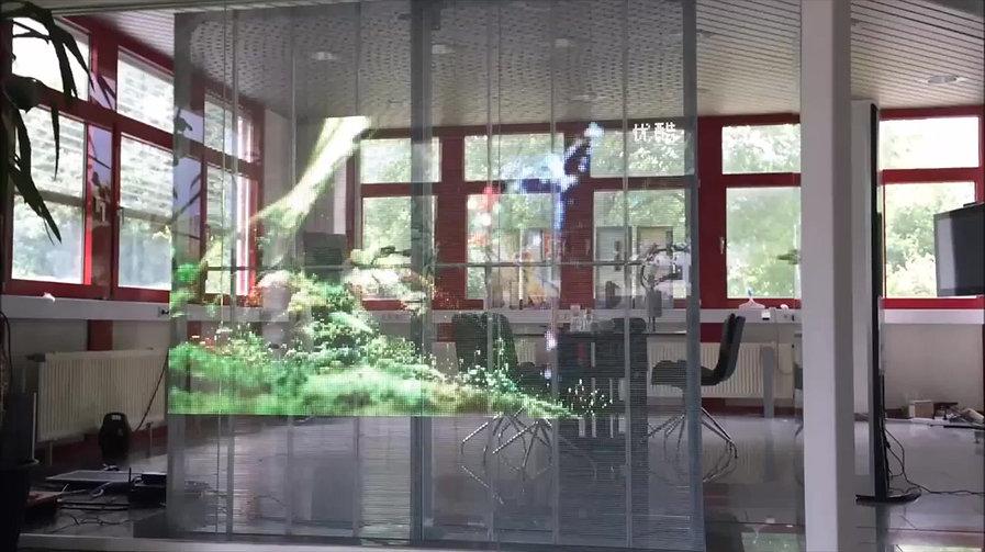 Entdecken Sie dei Vielfalt von transparenten LED-Walls