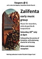 Vespers poster 2019 July 20 Zalifenta.pn