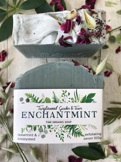 Enchantmint: Refreshing Spearmint & Poppyseed Exfoliating Organic Soap