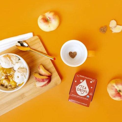 Tea Drops: Ginger Peach Cobbler