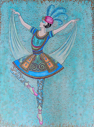 The Spirit of Ballet Russe III h24 w18.j