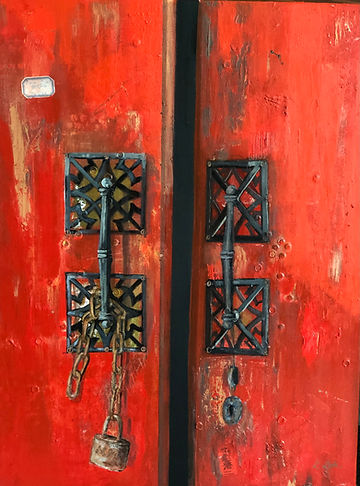 Flaming Heart Behind the Door h24 w18.jp