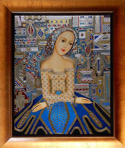 Queen Isabella h20 w16 framed .jpeg