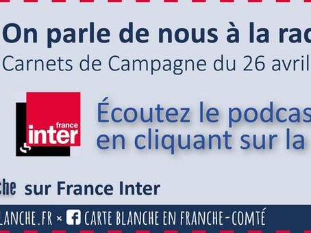 Carte Blanche sur France Inter