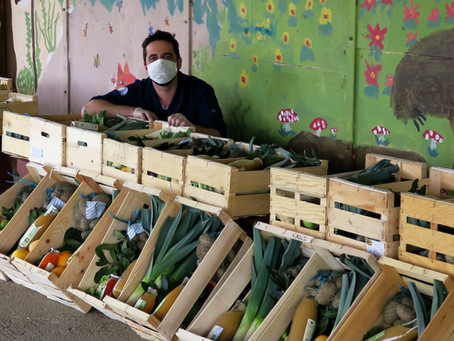 Distribution bénévole de paniers locaux : confinés solidaires