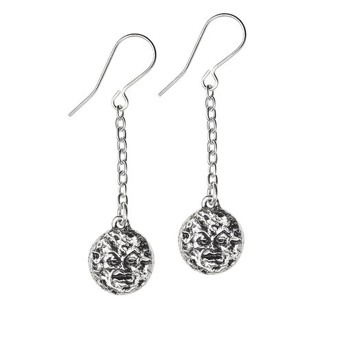 ALCHEMY GOTHIC E399 M'ERA LUNA - MAN IN THE MOON: DROPPER EARRINGS