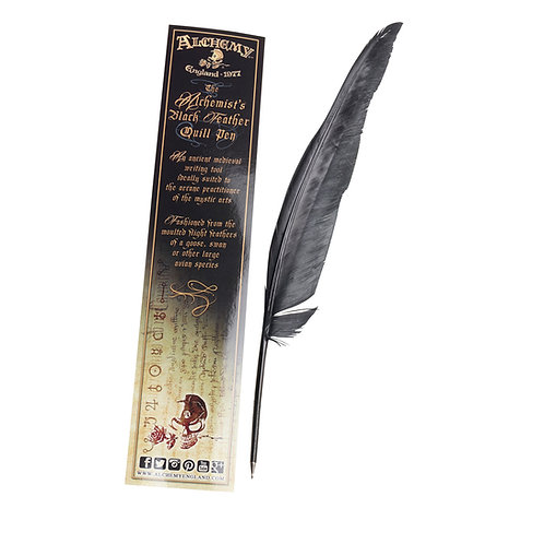 ALCHEMY GOTHIC AQU4 THE ALCHEMIST'S BLACK FEATHER QUILL PEN