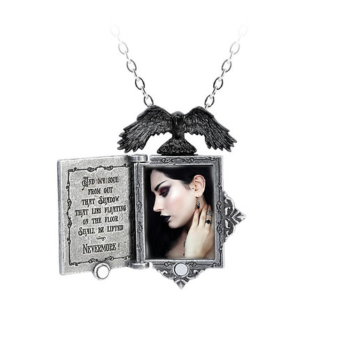ALCHEMY GOTHIC P897 POE'S RAVEN LOCKET
