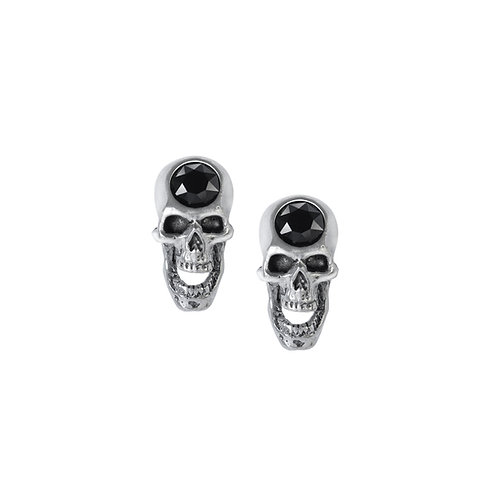 ALCHEMY GOTHIC E427 SCREAMING SKULL STUDS