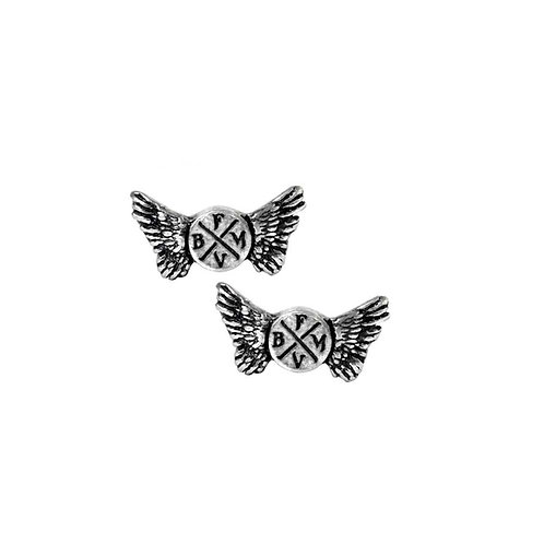 ALCHEMY GOTHIC PE12 BULLET FOR MY VALENTINE: WINGS LOGO STUDS