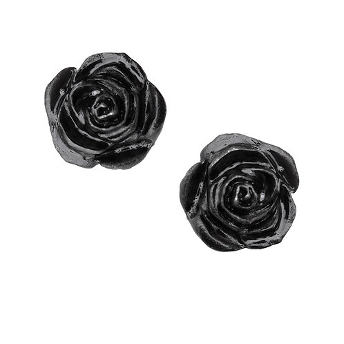 ALCHEMY GOTHIC E339 THE ROMANCE OF BLACK ROSE STUD