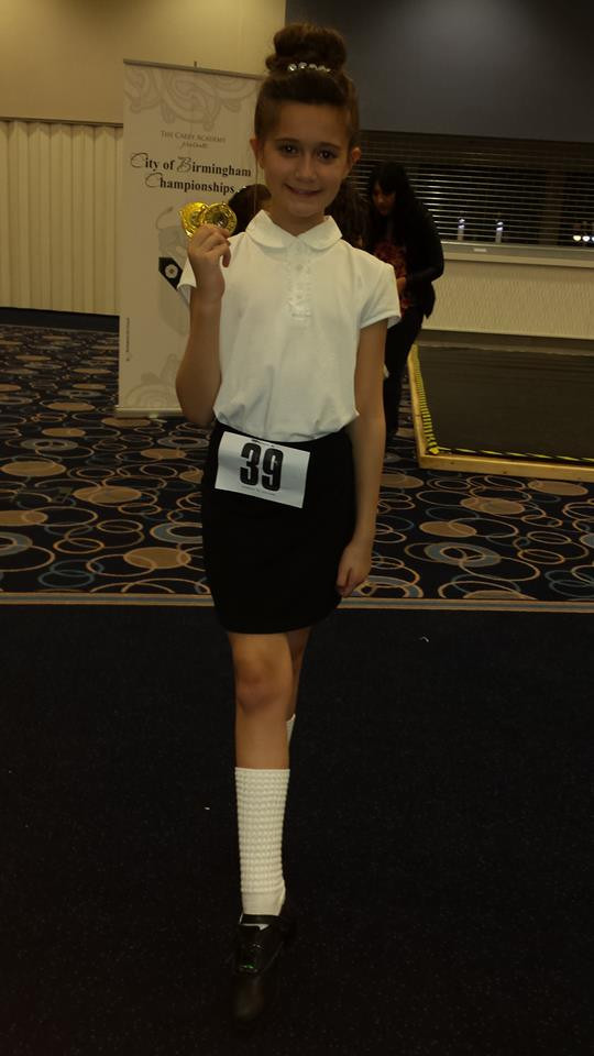 City of Birmingham Championships. Evie moved up a grade in three dances!