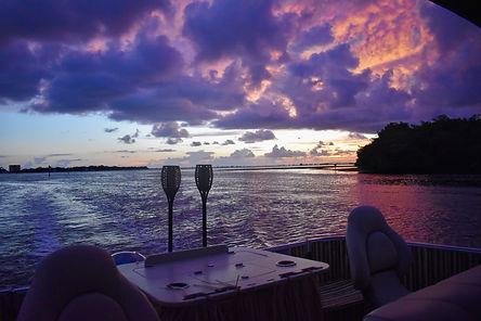 Tiki bar pontoon boat