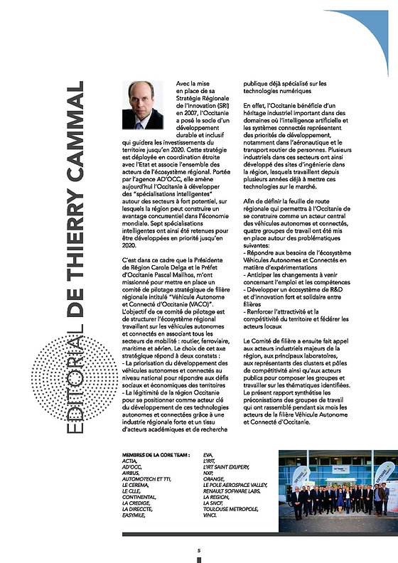 Rapport-VACO-2019 EDITO de Thierry CAMMA