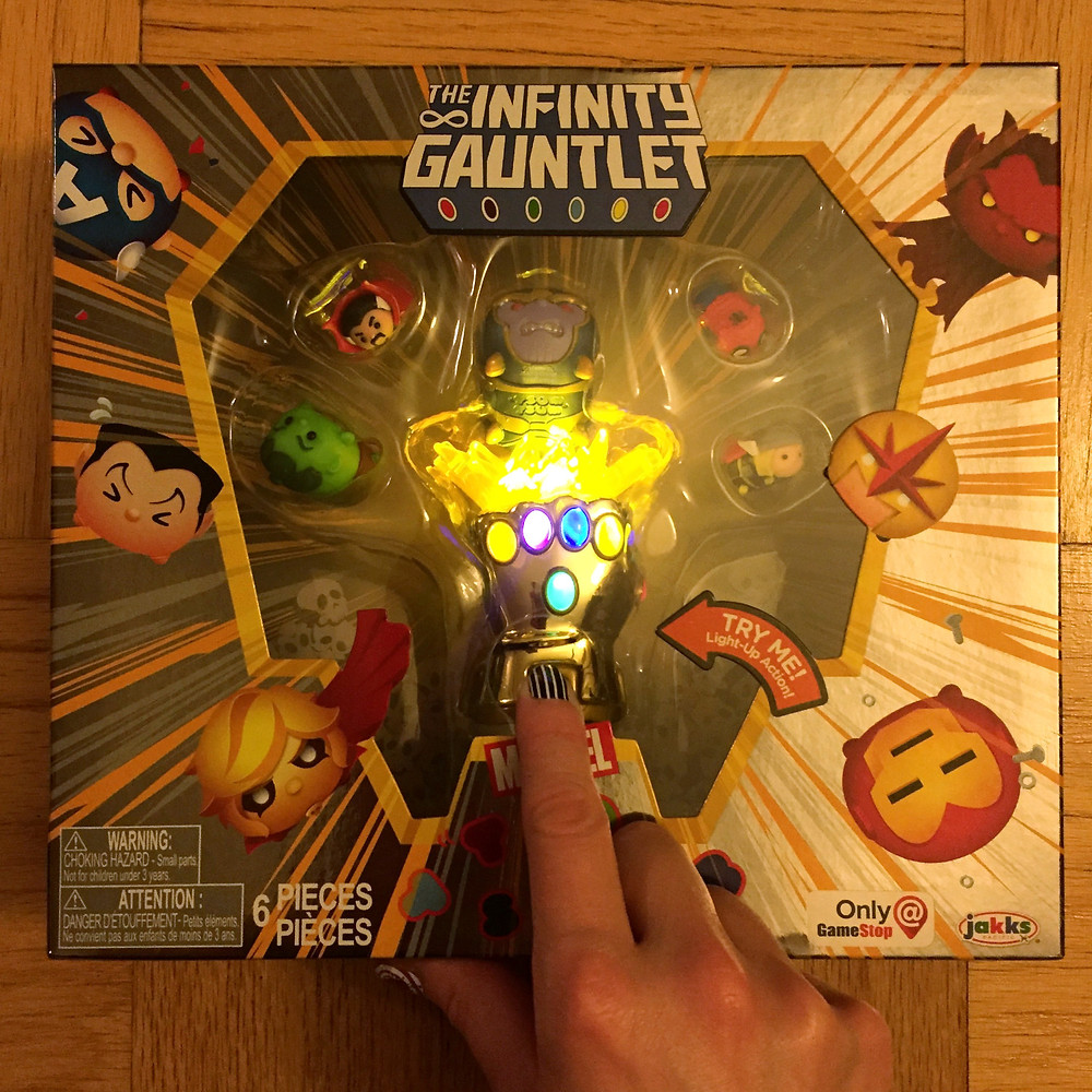 Check out that light-up gauntlet! So cool!