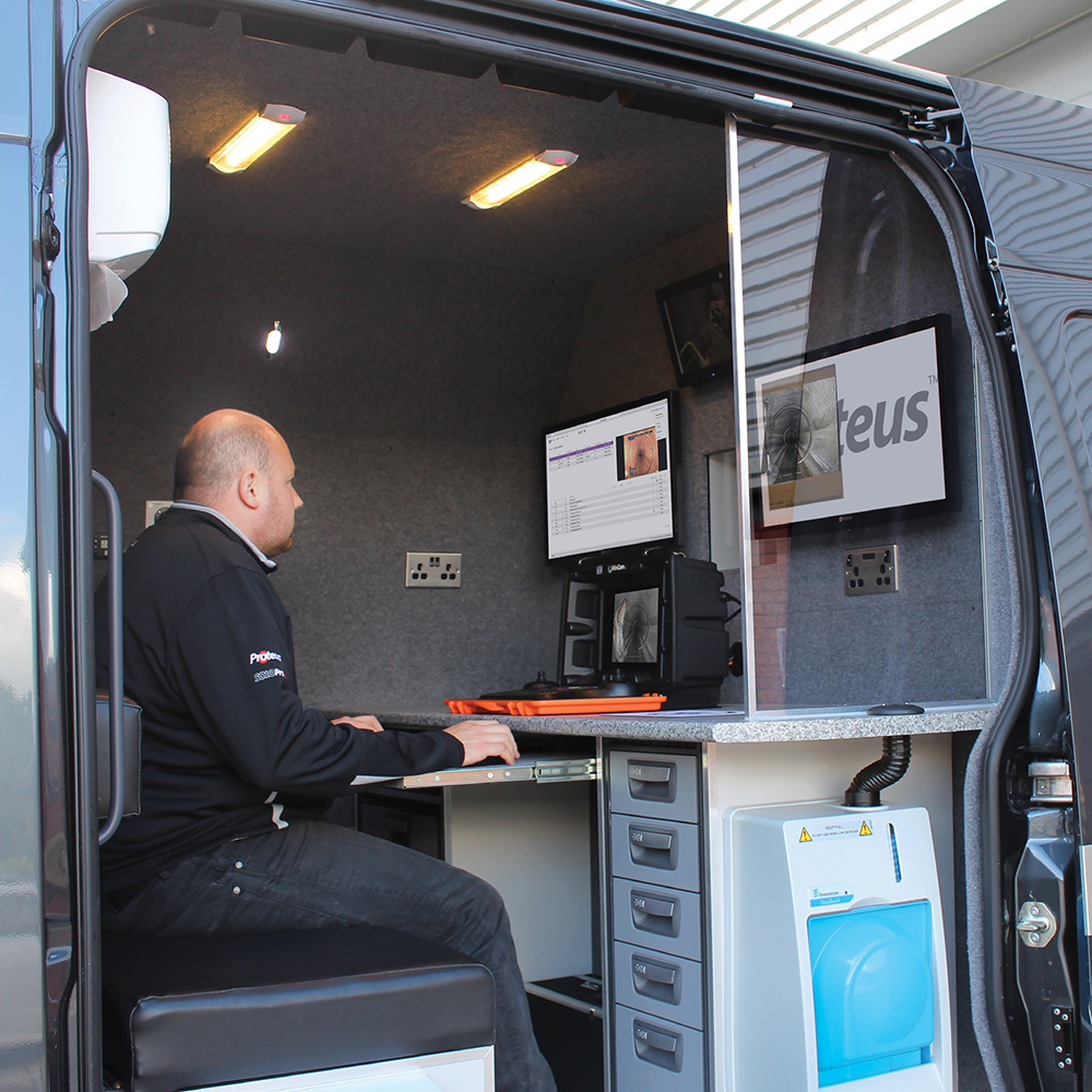 MINI-CAM CUSTOM VAN OFFICE