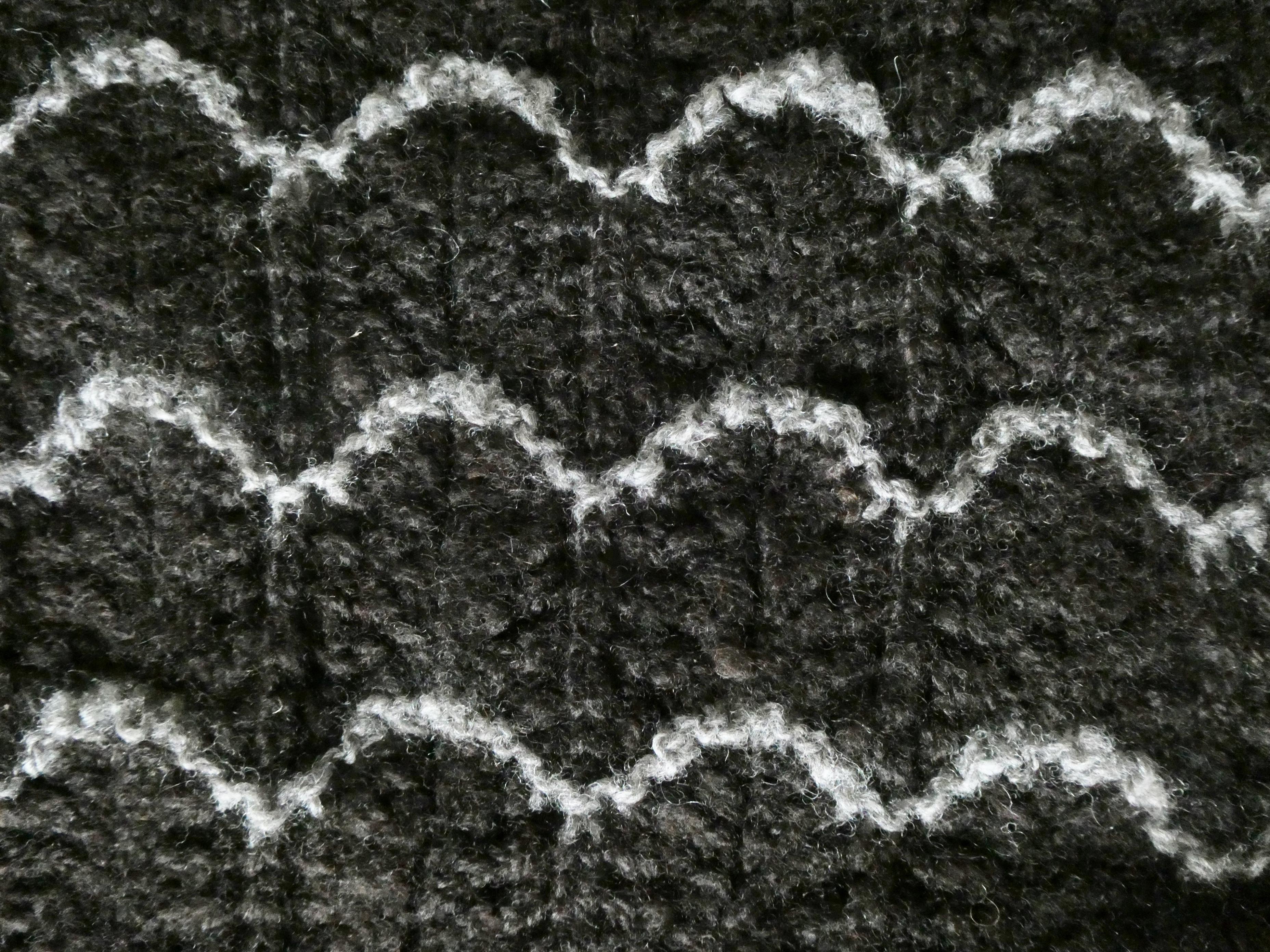 Shetland lace knitting