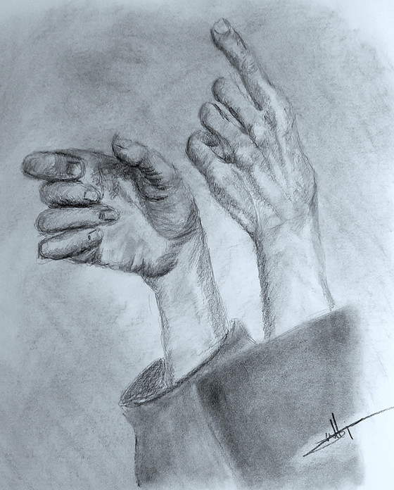 Charcoal Hands