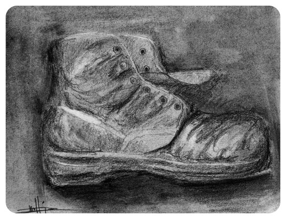Charcoal Boot - completed