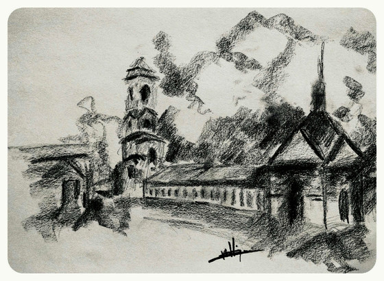 Russian Landscape Drawing