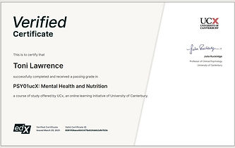 Mental Health and Nutrition-Certific