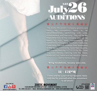 COMPANY AUDITIONS - JULY 26, 2014
