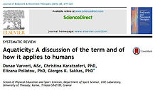 The first scientific paper dealing wit Human Aquaticity