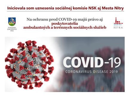 Na ochranu pred COVID-19 majú právo aj poskytovatelia ambulantných a terénnych sociálnych služieb