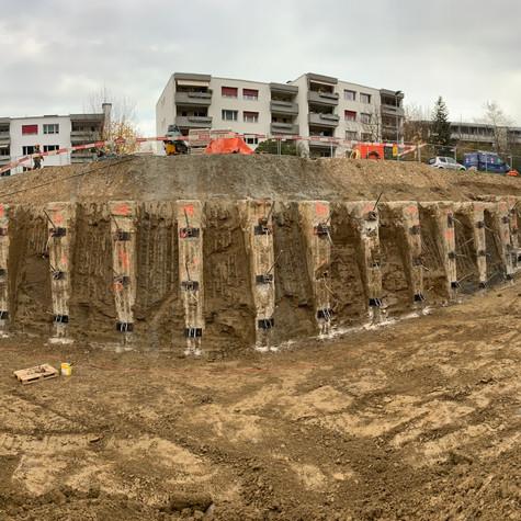 Baugrubensicherung in Lausen