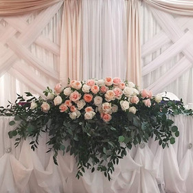 Check out our wedding high table arrange