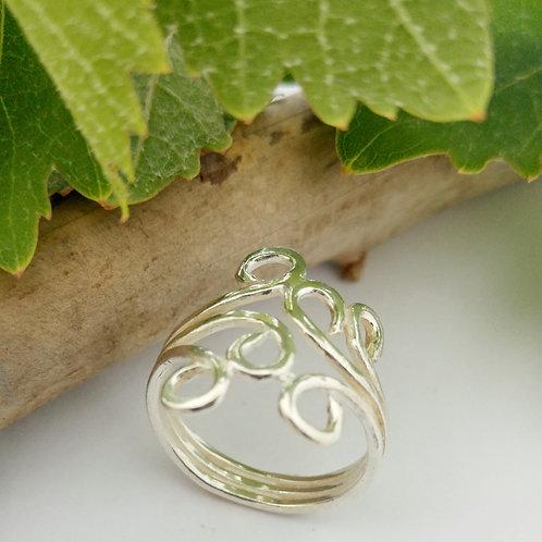 טבעת גפן כסף