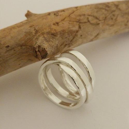 טבעת כסף שלושה סיבובים