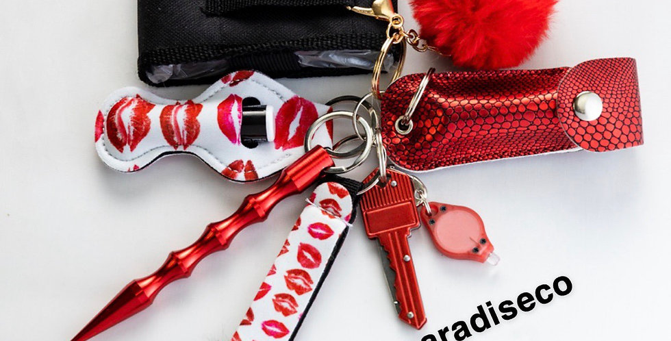 Red Kisses Keychain