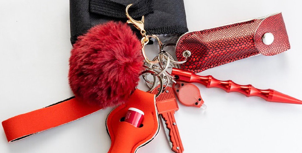 Solid Red Keychain