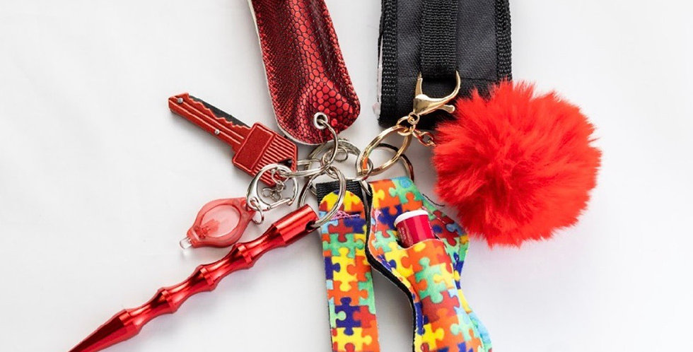Puzzled Keychain