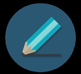 blå ritande penna