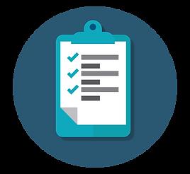 vitt papper med checklista