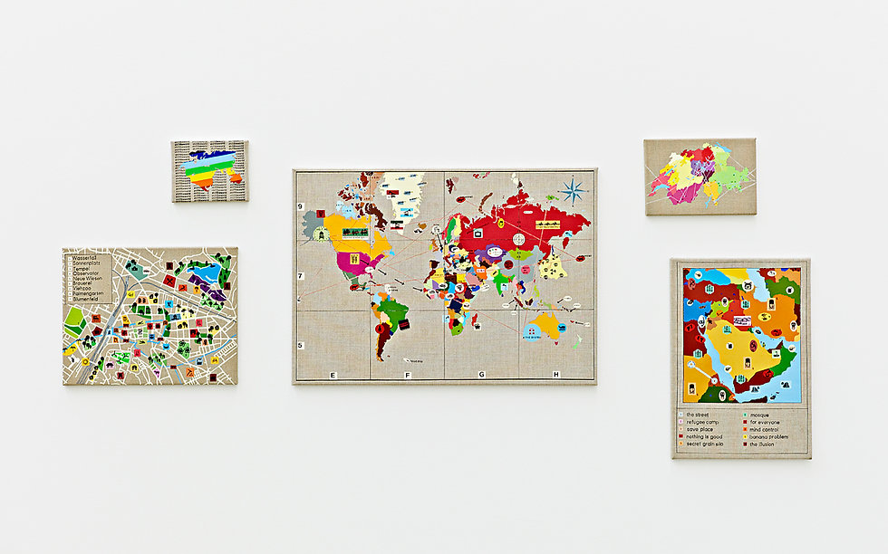 shift the world, painting, map, world, mia diener