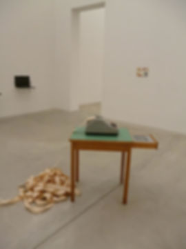 die abrechnung, the billing, installation, video, audio, calculating machine, mia diener